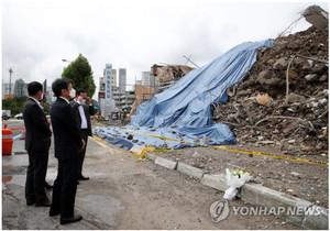 정몽규 현대산업개발 회장, 광주 철거건물 붕괴사고 현장 방문